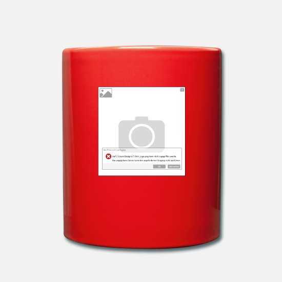 Computer Mugs & Drinkware - error - Mug red