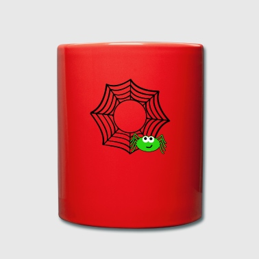 Web Spider web spider web Halloween - Full Colour Mug