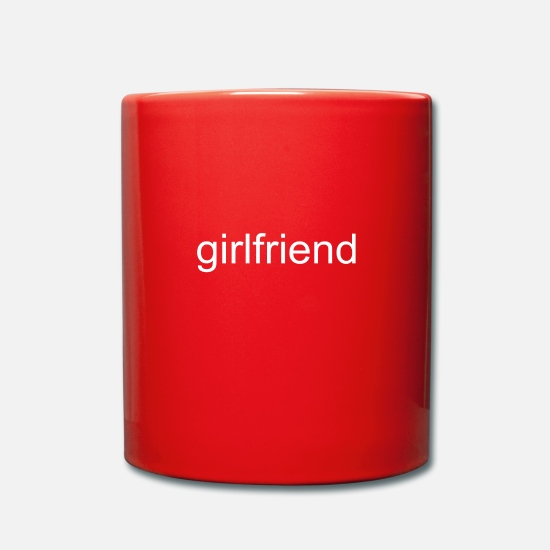 Romantisch Tassen & Becher - girlfriend - Tasse Rot