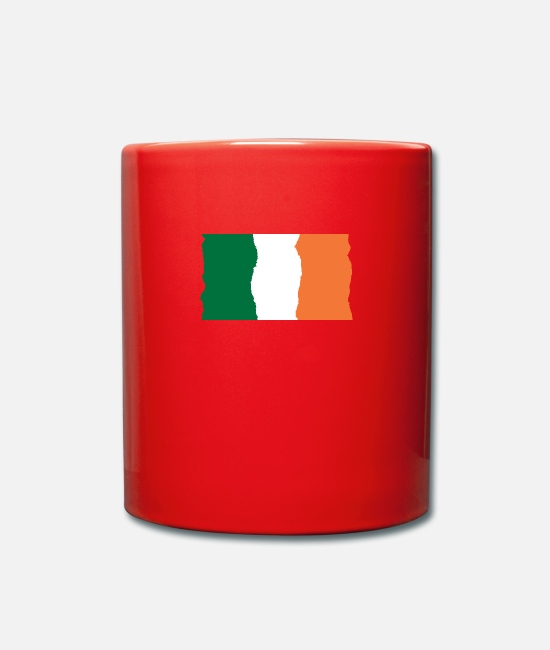 Ireland Shamrock Mugs & Drinkware - Ireland flag flag - Mug red