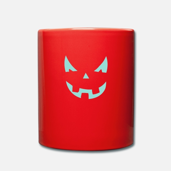New Mugs & Drinkware - Grinning laughter Monster Halloween ghost - Mug red