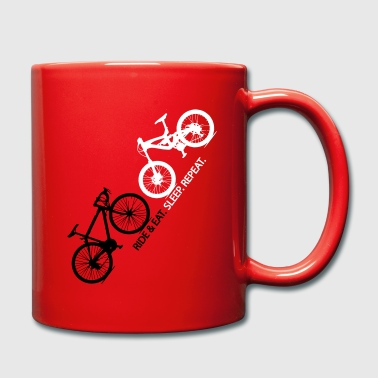 ride eat sleep repeat -bike - Tasse einfarbig