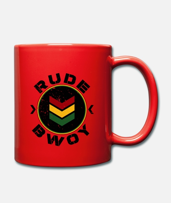 Rastafari Mugs & Drinkware - Rude Bwoy - Mug red