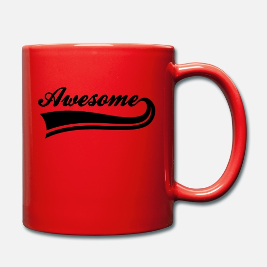 Awesome Mugs & Drinkware - awesome - Mug red