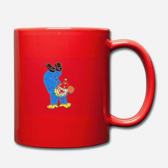 Birthday Mugs & Drinkware - Clown Handstand Circus Manege - Mug red