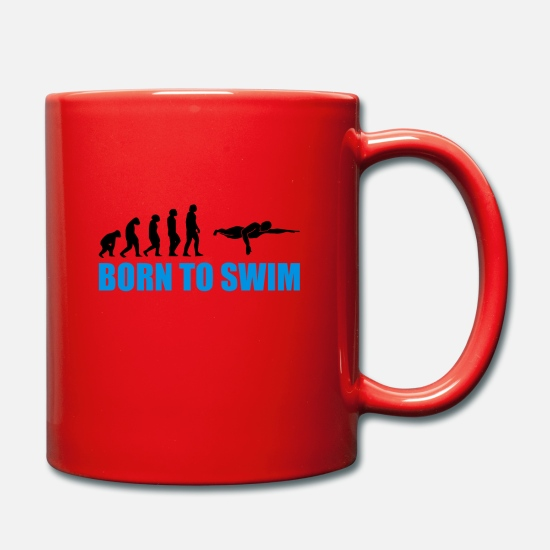 Born Mugs & Drinkware - Born to swim Swimmer dive - Mug red