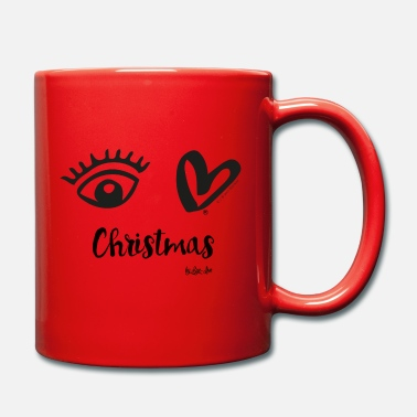 Eye Love Christmas Black - Mug