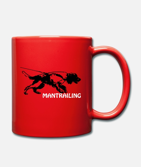 Salvation Mugs & Drinkware - Springer spaniel mantrailing - Mug red