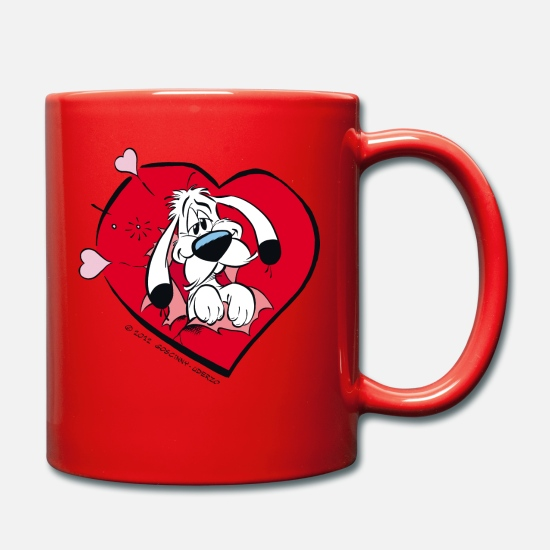 Officialbrands Mugs & Drinkware - Asterix & Obelix Idefix with heart Mug - Mug red