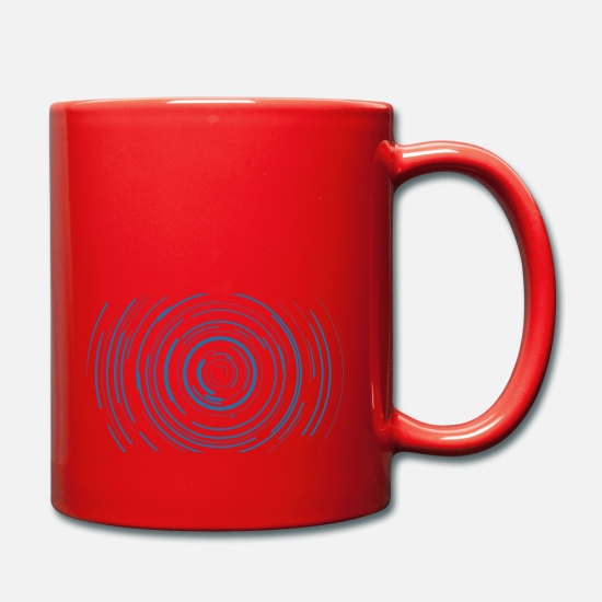 Record Mugs & Drinkware - vinyl record - Mug red
