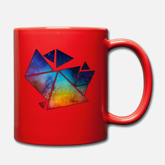 Flower Power Mugs et récipients - Triangles galactiques - Mug rouge