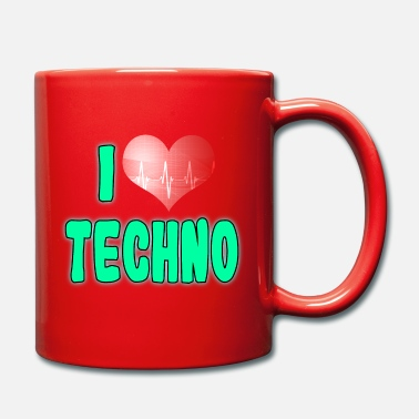 Love A Techno Tee For Music Lovers Saying I Love - Mug