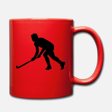 Hockey Hockey field hockey silhouette - Mug
