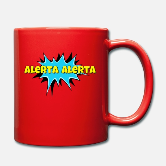 Antifa Mugs & Drinkware - ALARM ALARM ALARM - Mug red