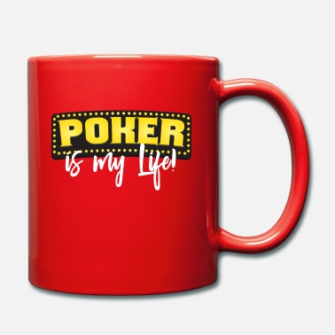 Full House Poker es mi vida flop full house escalera directa - Taza de un color