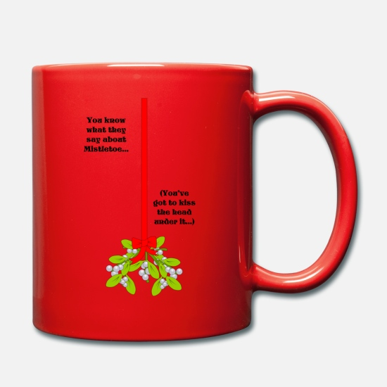 Nudity Mugs & Drinkware - Mistletoe - Mug red