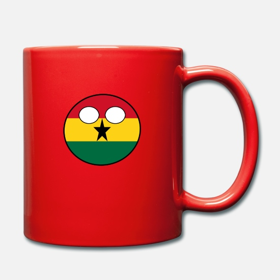 Ball Mugs & Drinkware - Countryball Country Home Ghana - Mug red