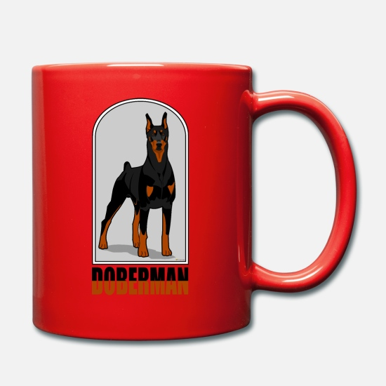 Doberman Mugs & Drinkware - Doberman - Mug red