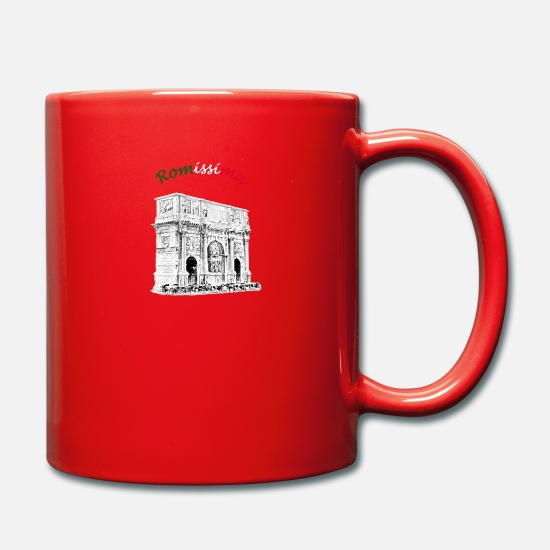 Emperor Mugs & Drinkware - Arch of Constantine Romissima / Rome - Mug red