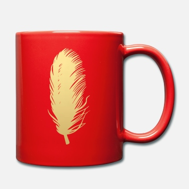 Feather Feather feathers feathers gold - Mug