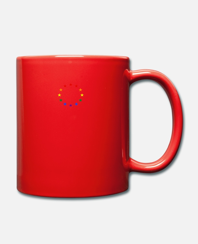 EU Mugs & Drinkware - gay pride europe homoehe rights human rights - Mug red