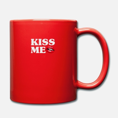 Kiss Kiss Me - Taza de un color