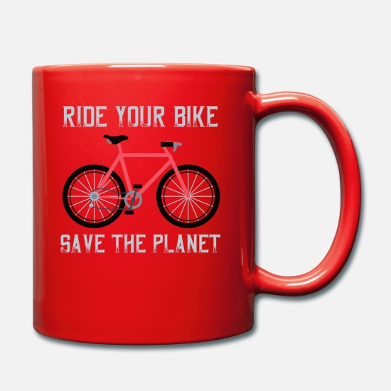 Save The Planet Tazze & Accessori - Gift for Biker - Ride your Bike save the planet - Tazza rosso