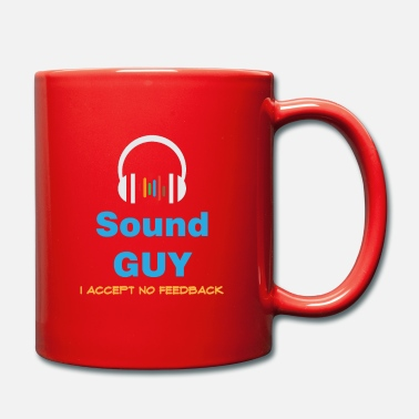 Pun &amp Funny Feedback Tshirt Designs Sound Guy - Mug