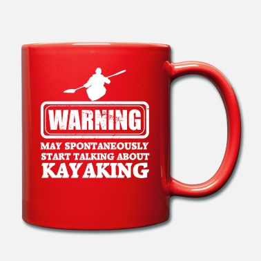 Paddel warning kayaking - Tasse einfarbig