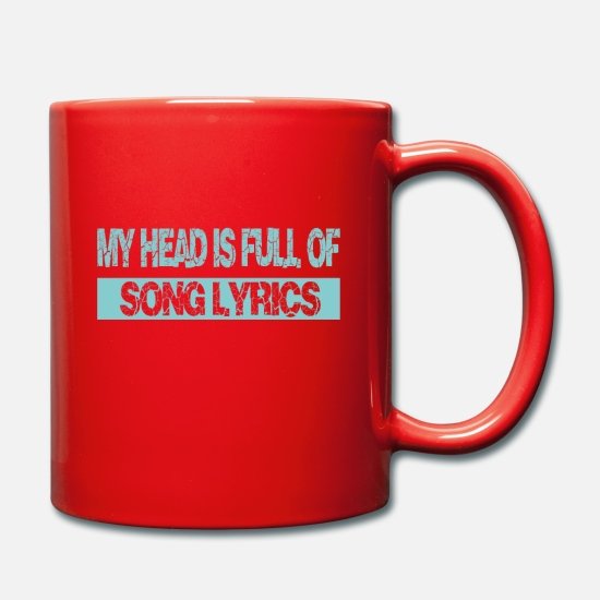 Song Mugs & Drinkware - Lyrics in the head - Mug red