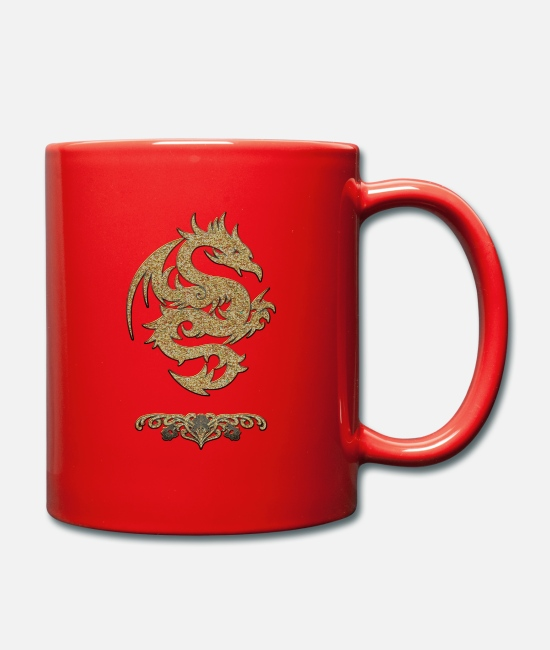 Symbol  Mugs & Drinkware - Wonderful Chinese dragon - Mug red