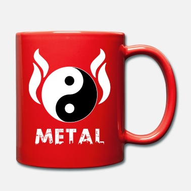 Metaleros YIN YANG METAL - Taza de un color