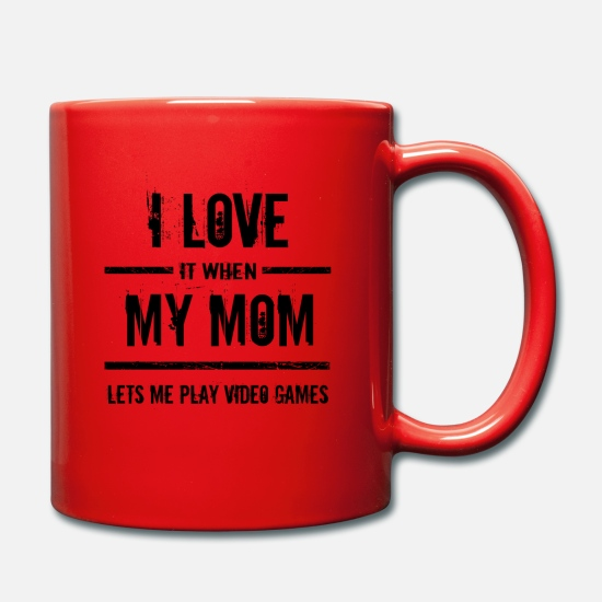 Esports Mugs & Drinkware - Love it when mom lets me play video games - Mug red