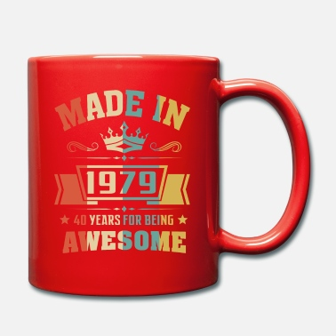 Awesome 40th birthday Made In 1979 40 Years Awesome - Mug