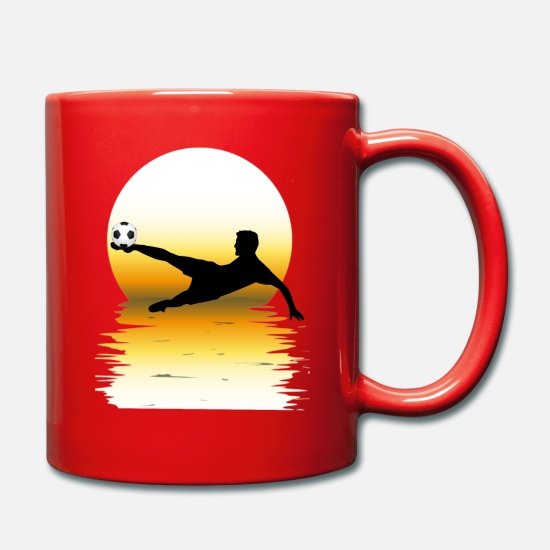 Soccer Mugs et récipients - football fan de football fan fan shirt - Mug rouge