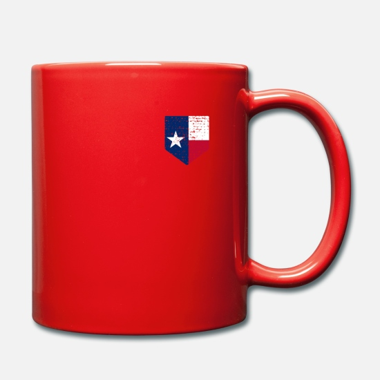 Proud Mugs & Drinkware - Texas Country Flag - Mug red
