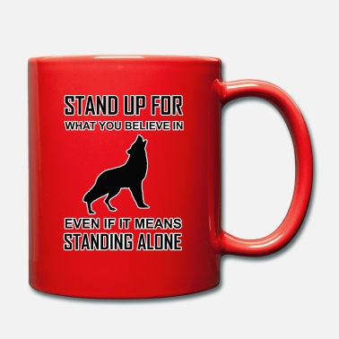 Native American Wisdom native american, indian, stand up wolf - Mug
