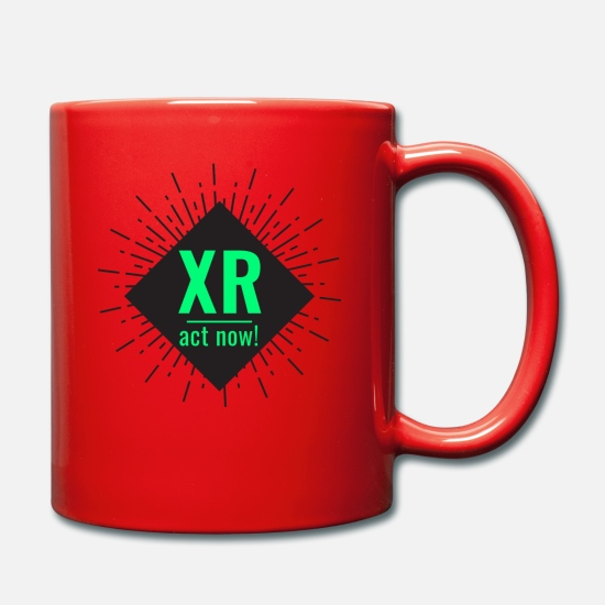 Rebellion Mugs et récipients - XR Extinction Rebellion - agissez maintenant! - Mug rouge