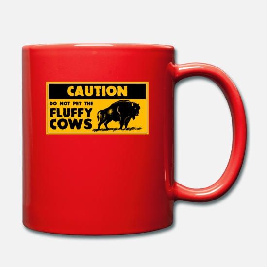 Canada Mugs et récipients - Bison fluffy cow - Mug rouge