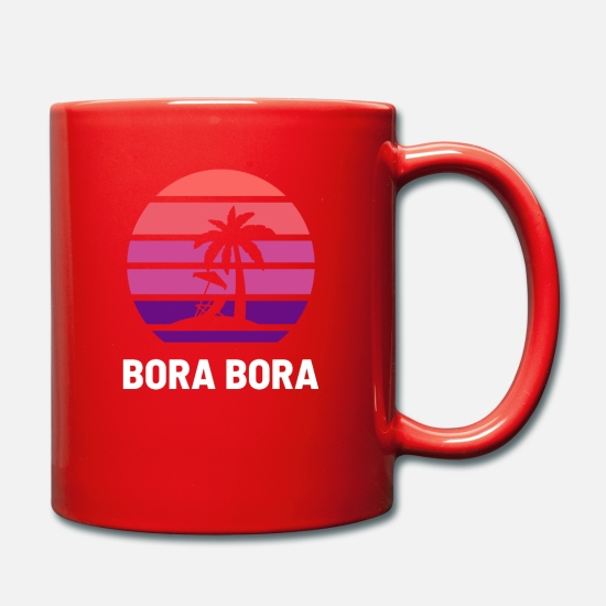 Beach Mugs & Drinkware - Bora Bora - Mug red