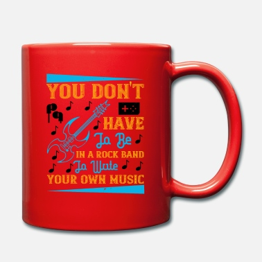 Music You don't have to be in a rock band - Tasse