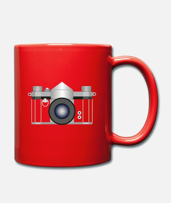 Legend Mugs & Drinkware - SLR Camera - Retro Camera - Mug red