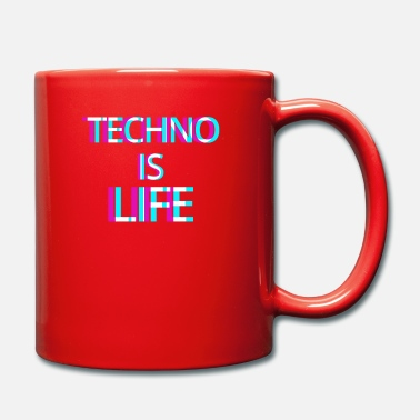 Techno Is Life Music Electro Music Party Disco - Mug