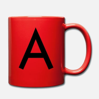 Initial The A initial letter - Full Colour Mug