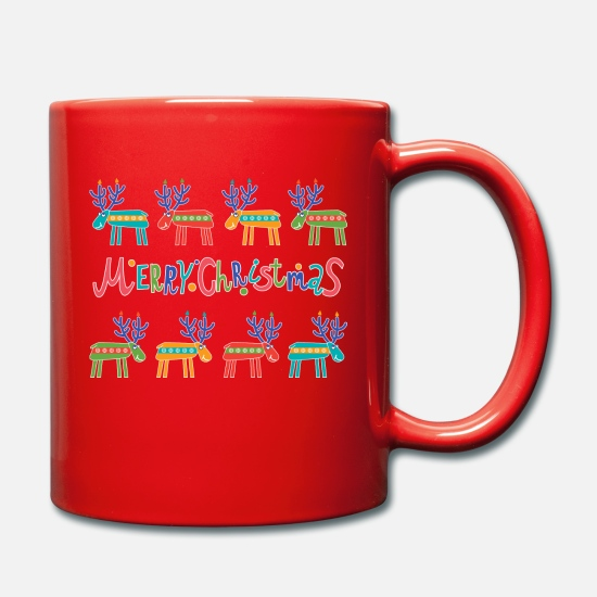 De Noël Mugs et récipients - Happy Deers Christmas - Mug rouge
