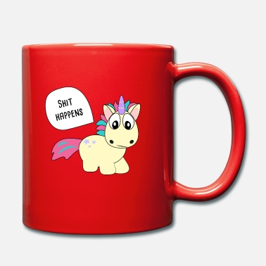 Funny Unicorn shit happens, unicorn, unicorn, cool, funny - Mug