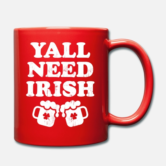 Shamrock Tazze & Accessori - Yall Need Irish Beer Beer Stein Clover Gift - Tazza rosso
