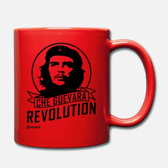 Communist Mugs & Drinkware - Che Guevara Revolution Flex Tote Bag - Mug red