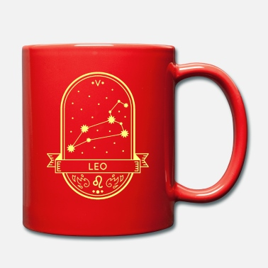 Outerspace Leo lion star sign constellation horoscope - Mug
