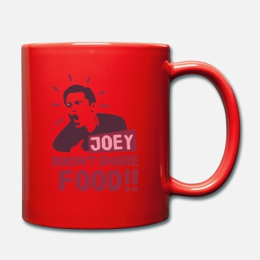 Joey Joey-doesnt-share-food-red - Full Colour Mug